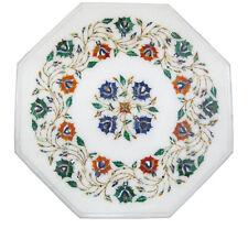 """12""""x12"""" Marble Coffee Center Table Top Mosaic Malachite Inlay Home Garden Decor"""