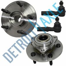 06-08 Dodge Ram 1500 2 Front Wheel Bearing & Hub Assy Non ABS + 2 Outer Tie Rods