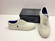 Ralph Lauren Polo Forestmont II Canvas Off White Casual Sneakers Shoes Mens 9.5