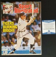 Alan Trammell Signed Sports Illustrated Magazine August 1987 Tigers Beckett COA