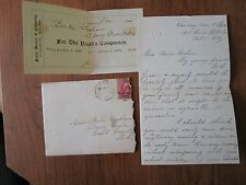 Antique Letter 1898 The Youth's Companion Coupon Perry Mason & Co.