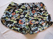 Volcom Black Floral multi colors M medium Shorts juniors womens surf swim NWT^^