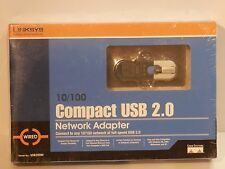 Linksys Compact USB 2.0 10/100 Network Adapter New Sealed