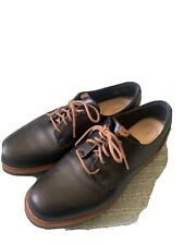 CLARKS ARTISAN UK 4.5 Black Leather Brogues With Brown Finishing