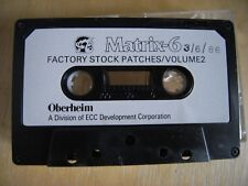 Oberheim Matrix 6 Parches stock de fábrica VOL.2 Original Cassette cinta de junio de 1986