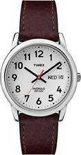 Reloj Timex Hombre Cuero Marrón Lector Fácil Reloj-T20041