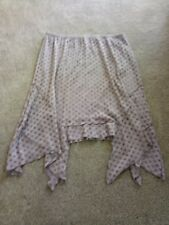 TS Taking Shape Grey Pleated Dotty Skirt Size L