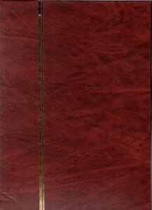 001 -  3   CLASSEURS TIMBRES  16 PAGES FOND BLANC  RELIURE  BRUN