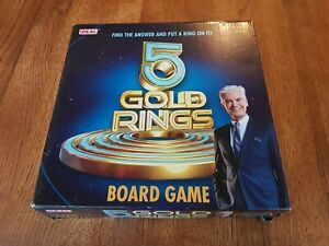 5 GOLD RINGS BOARD GAME ages 8+ very good conditionused only once