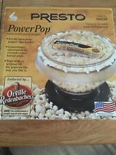 Presto Power Pop Microwave Popcorn Maker New In Box 21-543 New In Box
