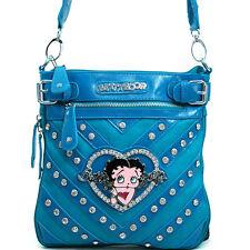 New Betty Boop Women Leather Crossbody Messenger Bag Purse Wallet Clearance Sale