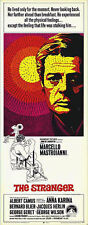 THE STRANGER original 1968 movie poster ALBERT CAMUS/MARCELLO MASTROIANNI 14x36
