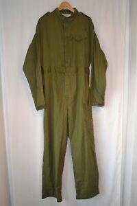 Vintage RAF olive work wear boiler suit cover all size large 180/ 100 work wear