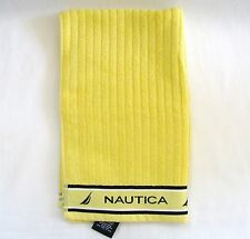 "New Nautica Yellow Stripe 100% Cotton Soft Absorbent Hand Towel-16"" x 27"""