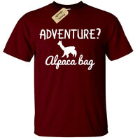 ADVENTURE ALPACA BAG T-Shirt funny Mens alpaca llama