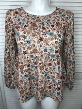 Womens Knox Rose Floral Print Long Sleeve Round Neck Blouse Pink S