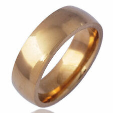 Cool Fashion Jewelry Vintage Womens Mans Yellow Gold Filled Band Ring Size 7
