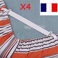 4 Attaches fixations  de Drap HOUSSE de Lit Bande Élastique Pince Clip Nappe