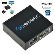 1x2HDMI Splitter Amplifier 2 Output 1 Input  2 Way Switch Box Hub For HDTV 1080P