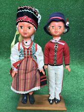 Vintage Ornate Hand Made Outfits Boy Girl Pair 20� Dolls. Beautiful