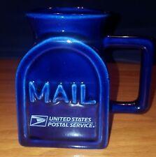 US Post Office Mailbox Mug. Beautiful Blue unique one of a kind design mug.