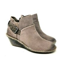 otbt rocker womens suede wedge booties light brown taupe size 40 US 9