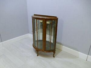 Vintage Demi-Lune Mahogany Display Cabinet   |257