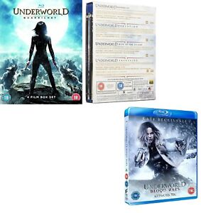 UNDERWORLD 1-4+5 2004-2016 COMPLETE COLLECTION Kate Beckinsale Euro BLU-RAY