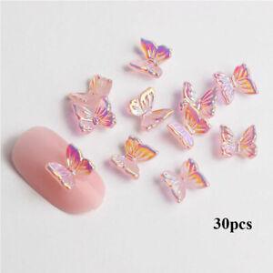 3D Butterfly Zircon Nails Rhinestones Jewelry DIY  Manicure Nail Art Decorations