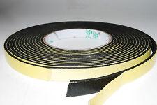 """3 x Speaker Gasketing Tape 3mm x 10mm x 4M  1/8"""" x 3/8""""x32ft  Roll A168"""