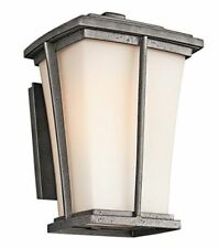 Kichler 49216AVI Brockton Wall Outdoor Wall Lantern Sconce Satin Etched Case NEW