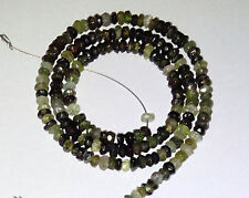 Green Petro Tourmaline Faceted Round/Rondell Gemstone Beads 3-3.50mm 14 Inch.