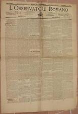 L'OSSERVATORE ROMANO 24 25 MAGGIO 1899 COMO SONNINO CUNEO EDITTO PACCA SARDEGNA
