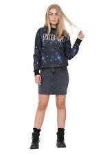Denim Machine Washable Regular Size Mini Skirts for Women
