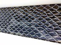 Guitar Strap gloss black crocodile gator style has metallic silver highlights