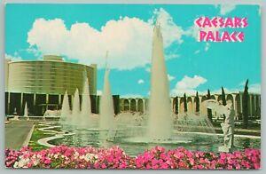 Las Vegas Nevada~Caesar's Palace Fountains~Vintage Postcard