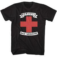 Bon Jovi Rock Band Bad Medicine Music 80s Retro Graphic Men's Adult T-Shirt Tee