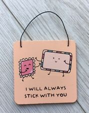 For The Pun Of It - I Will Always Stock By You Wooden Vintage Hanging Gift