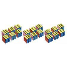 18 Pack Mini Rubik Cube Twist Puzzle Magic Speed Rubiks Brain Game 3X3X3 Toy Kid
