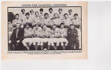 Team Pic from 1970-71 FOOTBALL Annual - CHESTERFIELD + LEYTON ORIENT