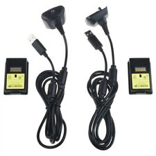 Omilik 2X4800mAh Battery Pack+ 2 Long Charger Cable Xbox 360 Wireless Controller