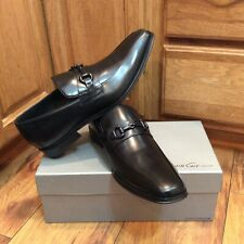 NEW IN BOX MENS KENNETH COLE FAN-CIFIED HORSE BIT LEATHER DRESS OXFORDS SIZE 11M