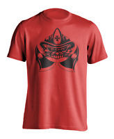 New Men's Fire and Rescue Workout T-Shirt Firefighter Skull Athletic Gym Tee
