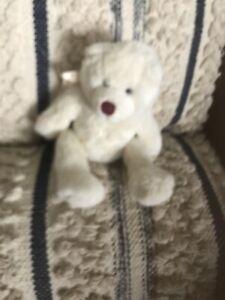 """Ganz WHITE ANGEL TEDDY BEAR 9"""" Plush STUFFED ANIMAL Toy"""