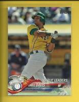 Khris Davis  2018 Topps Series 1 LL Card # 218  Oakland Athletics A's Baseball