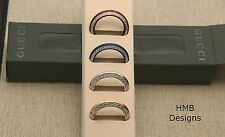 NIB Gucci 4 Diamond Cut Bezel Collection - Gold, Silver, Red, Blue - for 1100