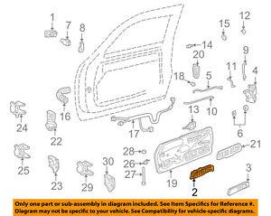 GM OEM-Interior Inside Door Handle Left 15708047