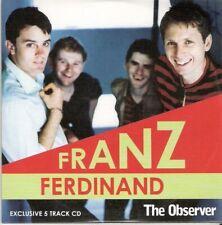 FRANZ FERDINAND - 5 TRACK CD - OBSERVER PROMO MUSIC CD
