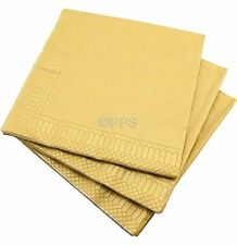 20 LUXURY 3 PLY GOLD PAPER NAPKINS - 40cm x 40cm Ideal for weddings, parties,