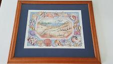 """Great Artwork Framed Art Seascape Seagulls Shells Beach Signed CVGOI (12 x 9"""")"""